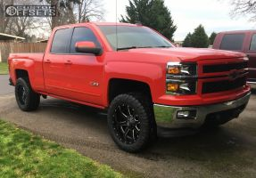 "2015 Chevrolet Silverado 1500 - 20x10 -24mm - Fuel Maverick - Leveling Kit - 33"" x 12.5"""