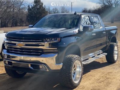 "2019 Chevrolet Silverado 1500 - 22x12 -40mm - American Force Octane Ss - Suspension Lift 7"" - 35"" x 12.5"""