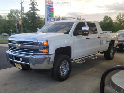 """2016 Chevrolet Silverado 3500 HD - 18x9 -12mm - Raceline Split - Leveling Kit - 33"""" x 12.5"""""""