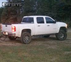 """2013 Chevrolet Silverado 1500 - 20x10 -24mm - Fuel Nutz - Suspension Lift 4"""" - 35"""" x 12.5"""""""
