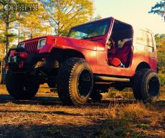 "1990 Jeep Wrangler - 20x14 -76mm - Fuel Hostage - Suspension Lift 3"" - 35"" x 12.5"""