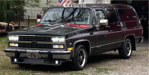 "1991 Chevrolet R1500 Suburban - 17x8 0mm - Vision Dazzler - Stock Suspension - 27"" x 8.5"""