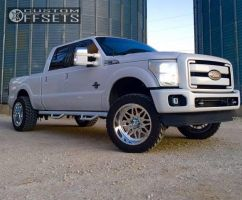 """2011 Ford F-250 Super Duty - 22x12 -40mm - American Force TRAX SS - Leveling Kit - 35"""" x 12.5"""""""