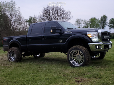 """2015 Ford F-250 Super Duty - 24x14 -76mm - Stealth Forged Creedmore - Suspension Lift 6"""" - 37"""" x 13.5"""""""