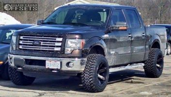 "2013 Ford F-150 - 20x12 -44mm - Fuel Beast - Leveling Kit - 33"" x 12.5"""