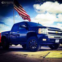 "2011 Chevrolet Silverado 1500 - 20x9 0mm - Gear Off-Road Big Block - Suspension Lift 5"" - 35"" x 12.5"""