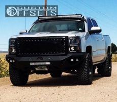 """2015 Chevrolet Silverado 1500 - 18x9 1mm - Fuel Boost - Suspension Lift 4"""" - 285/65R18"""