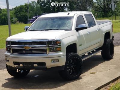 "2014 Chevrolet Silverado 1500 - 22x12 -44mm - Karma Offroad K25 - Suspension Lift 6"" - 33"" x 12.5"""