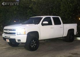 "2007 Chevrolet Silverado 1500 - 20x12 -44mm - Fuel Throttle - Suspension Lift 4.5"" - 33"" x 12.5"""