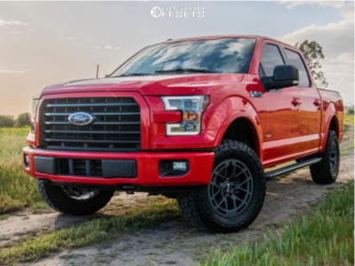 """2016 Ford F-150 - 18x9 18mm - RTR Tech 6 - Leveling Kit - 33"""" x 12.5"""""""