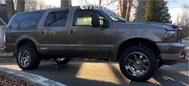 "2003 Ford Excursion - 20x12 -44mm - Gear Off-Road Big Block - Suspension Lift 3"" - 33"" x 12.5"""