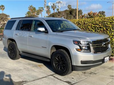 2019 Chevrolet Tahoe - 18x9.5 15mm - V-Rock Recoil - Leveling Kit - 275/70R18
