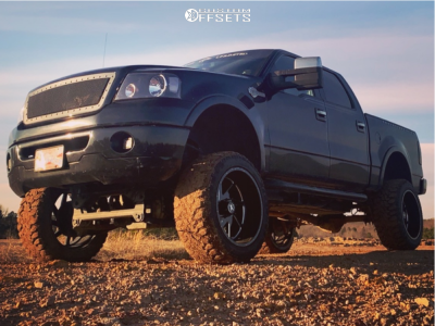 """2007 Ford F-150 - 22x12 -44mm - Xtreme Force Xf6 - Suspension Lift 6"""" - 35"""" x 12.5"""""""