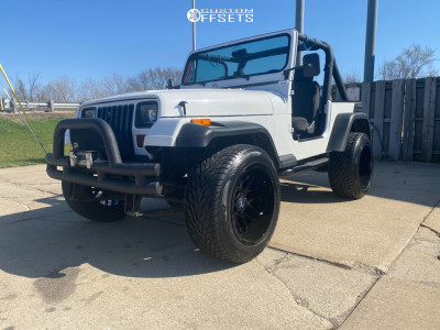 1989 Jeep Wrangler - 20x12 -44mm - Motiv Offroad Magnus - Stock Suspension - 305/50R20