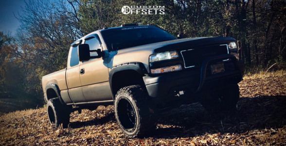 "2002 Chevrolet Silverado 1500 - 20x12 -44mm - RTX R-Spec Assassin - Suspension Lift 6"" - 33"" x 12.5"""