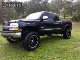 "2000 Chevrolet Silverado 1500 - 20x11 -12mm - Helo Maxx6 - Suspension Lift 6"" - 35"" x 12.5"""
