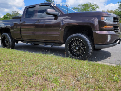 2016 Chevrolet Silverado 1500 - 20x10 -25mm - TIS 544bm - Leveling Kit & Body Lift - 275/55R20