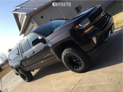 2018 Chevrolet Silverado 1500 - 17x10 -18mm - Fuel Vapor - Leveling Kit - 295/70R17