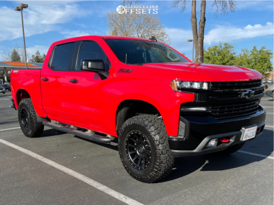 "2019 Chevrolet Silverado 1500 - 18x9 0mm - Icon Alloys Compression - Suspension Lift 4"" - 285/75R18"