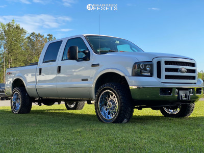 "2006 Ford F-250 Super Duty - 20x10 -25mm - Vision Rocker - Leveling Kit - 33"" x 12.5"""
