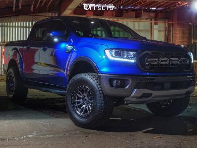 "2019 Ford Ranger - 17x9 1mm - Fuel Rebel - Leveling Kit - 33"" x 11.5"""