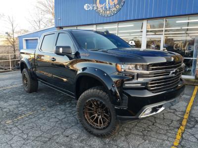 """2020 Chevrolet Silverado 1500 - 20x10 -24mm - Fuel Rebel - Suspension Lift 4"""" - 35"""" x 12.5"""""""