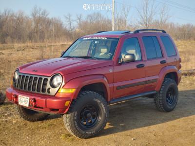 "2006 Jeep Liberty - 16x8 -6mm - Black Rock Type 8 - Suspension Lift 3"" - 275/65R16"
