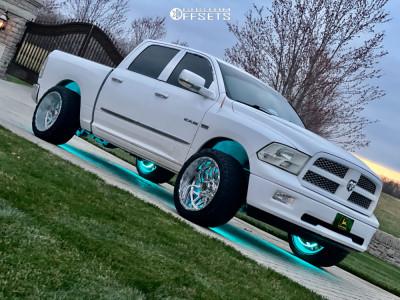 "2010 Dodge Ram 1500 - 22x12 -44mm - TIS 544bm - Suspension Lift 2.5"" - 33"" x 12.5"""
