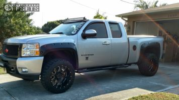 "2010 Chevrolet Silverado 1500 - 20x12 -44mm - Gear Off-Road Big Block - Suspension Lift 3.5"" - 33"" x 12.5"""