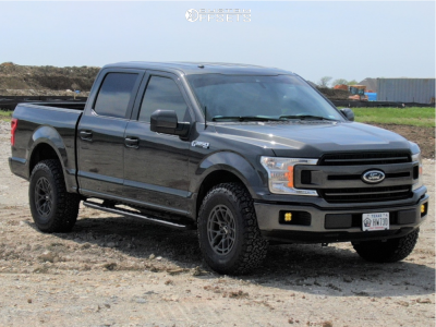 2019 Ford F-150 - 17x9 18mm - RTR Tech 6 - Leveling Kit - 285/75R17