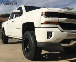 "2017 Chevrolet Silverado 1500 - 18x9 -12mm - Xd Xd127 - Suspension Lift 3"" - 285/65R18"