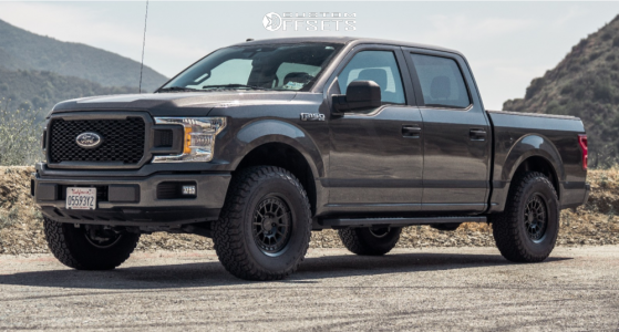 2019 Ford F-150 - 17x8.5 0mm - KMC Km719 - Leveling Kit - 285/75R17