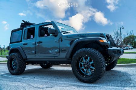 "2021 Jeep Wrangler - 20x10 -24mm - Moto Metal Mo970 - Suspension Lift 2.5"" - 35"" x 12.5"""
