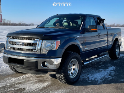 """2013 Ford F-150 - 17x9 -6mm - Ultra 103 - Leveling Kit - 33"""" x 12.5"""""""
