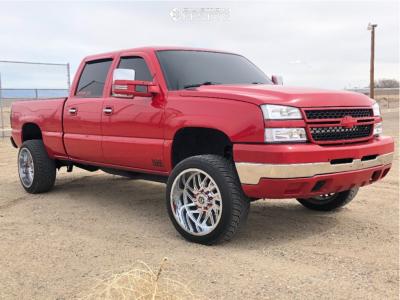 "2006 Chevrolet Silverado 2500 HD - 22x12 -44mm - TIS 544 - Stock Suspension - 32"" x 11.5"""