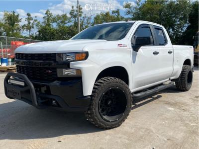 "2019 Chevrolet Silverado 1500 - 20x12 -55mm - Vision Rocker 412 - Suspension Lift 2.5"" - 33"" x 12.5"""