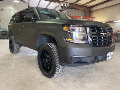 "2019 Chevrolet Tahoe - 20x9 0mm - Hardrock Gunner - Suspension Lift 3.5"" - 33"" x 12.5"""