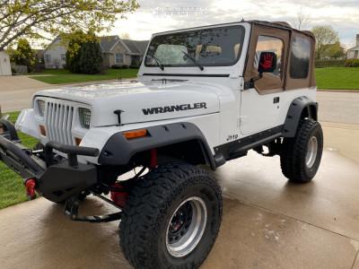 "1993 Jeep Wrangler - 15x12 -44mm - American Eagle 15 - Suspension Lift 4"" - 33"" x 12.5"""