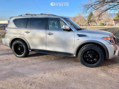 2019 Nissan Armada - 20x9 0mm - Panther Offroad 580 - Stock Suspension - 275/65R20