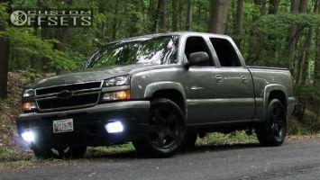 """2006 Chevrolet Silverado 1500 - 20x8.5 22mm - Wheel Replicas V1130 - Level 2"""" Drop Rear - 285/50R20"""