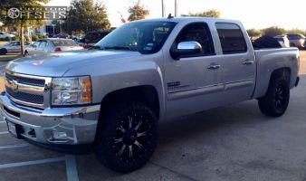 "2012 Chevrolet Silverado 1500 - 20x9 1mm - Fuel Nutz - Leveling Kit - 33"" x 12.5"""