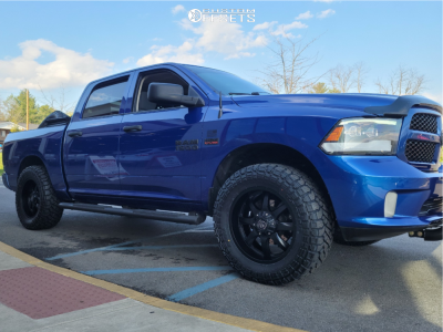 """2015 Ram 1500 - 20x9 0mm - Panther Offroad 578 - Leveling Kit - 35"""" x 12.5"""""""