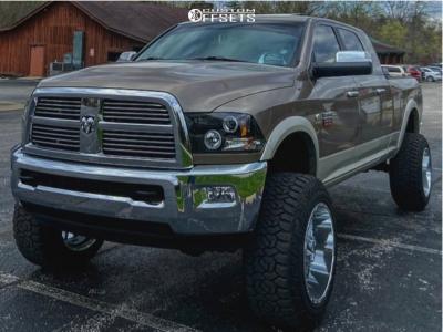 """2010 Dodge Ram 2500 - 22x14 -76mm - TIS 544c - Suspension Lift 6"""" - 37"""" x 13.5"""""""
