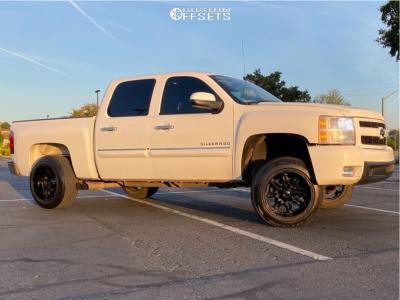 """2010 Chevrolet Silverado 1500 - 20x12 -44mm - Fuel Hostage - Suspension Lift 2.5"""" - 31"""" x 10.5"""""""