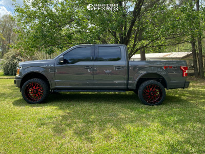 """2020 Ford F-150 - 22x12 -44mm - TIS 544mbr - Air Suspension - 33"""" x 12.5"""""""
