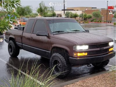 "1994 Chevrolet K1500 - 15x10 -43mm - Fuel Revolver - Stock Suspension - 32"" x 11.5"""