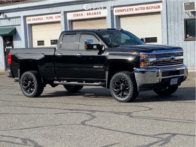 "2016 Chevrolet Silverado 2500 HD - 20x9 1mm - Fuel Assault - Leveling Kit - 33"" x 12.5"""