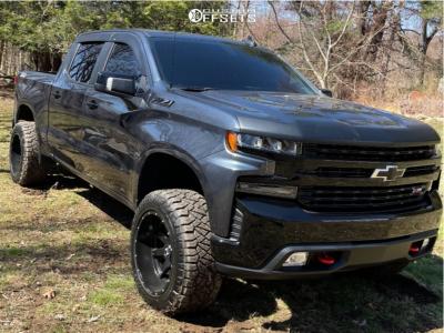 "2021 Chevrolet Silverado 1500 - 20x12 -44mm - Hostile Alpha - Leveling Kit - 33"" x 12.5"""