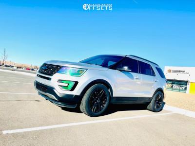 2016 Ford Explorer - 20x10.5 35mm - Aodhan Ls009 - Lowering Springs - 295/45R20