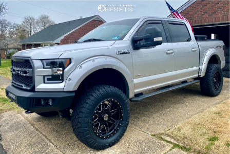 """2015 Ford F-150 - 20x10 -18mm - Anthem Off-Road Rogue - Suspension Lift 6"""" - 35"""" x 12.5"""""""